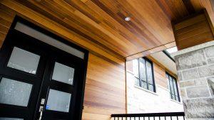 Concept PV soffite bois entree