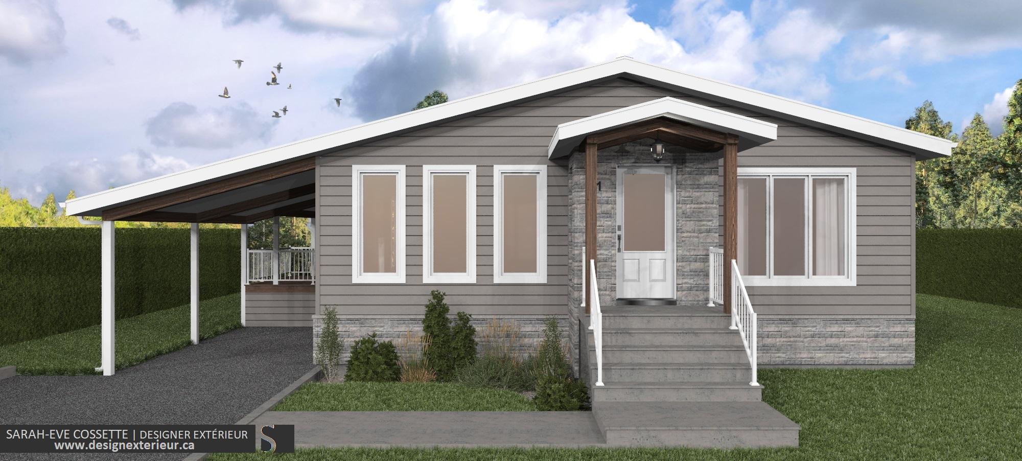 Projet Design exterieur 2020-DE001-2.0 maison a Amos visuel 2