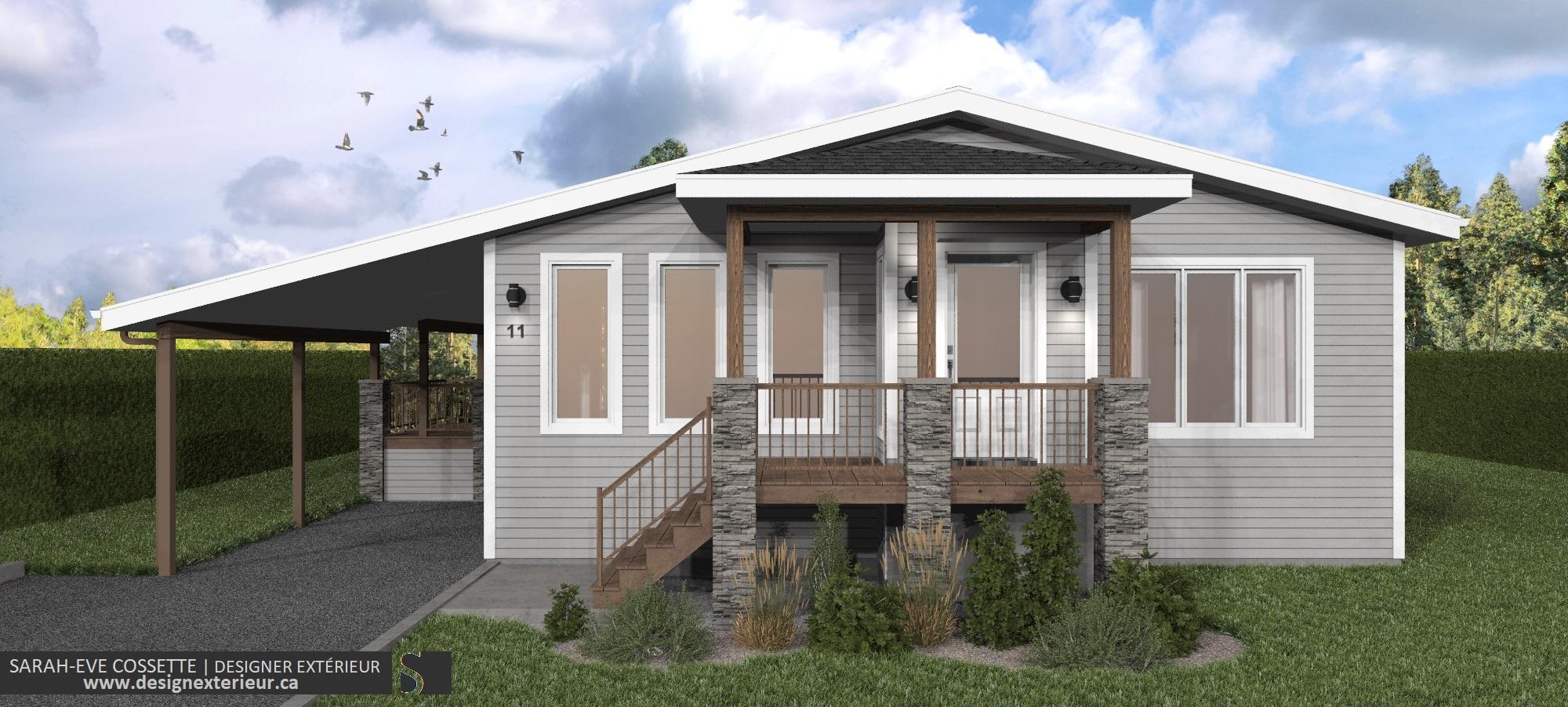 Projet Design exterieur 2020-DE001-3.0 maison a Amos visuel 3