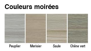 Echantillon Gentek Vinyle Designer exterieur Charte couleurs moirees