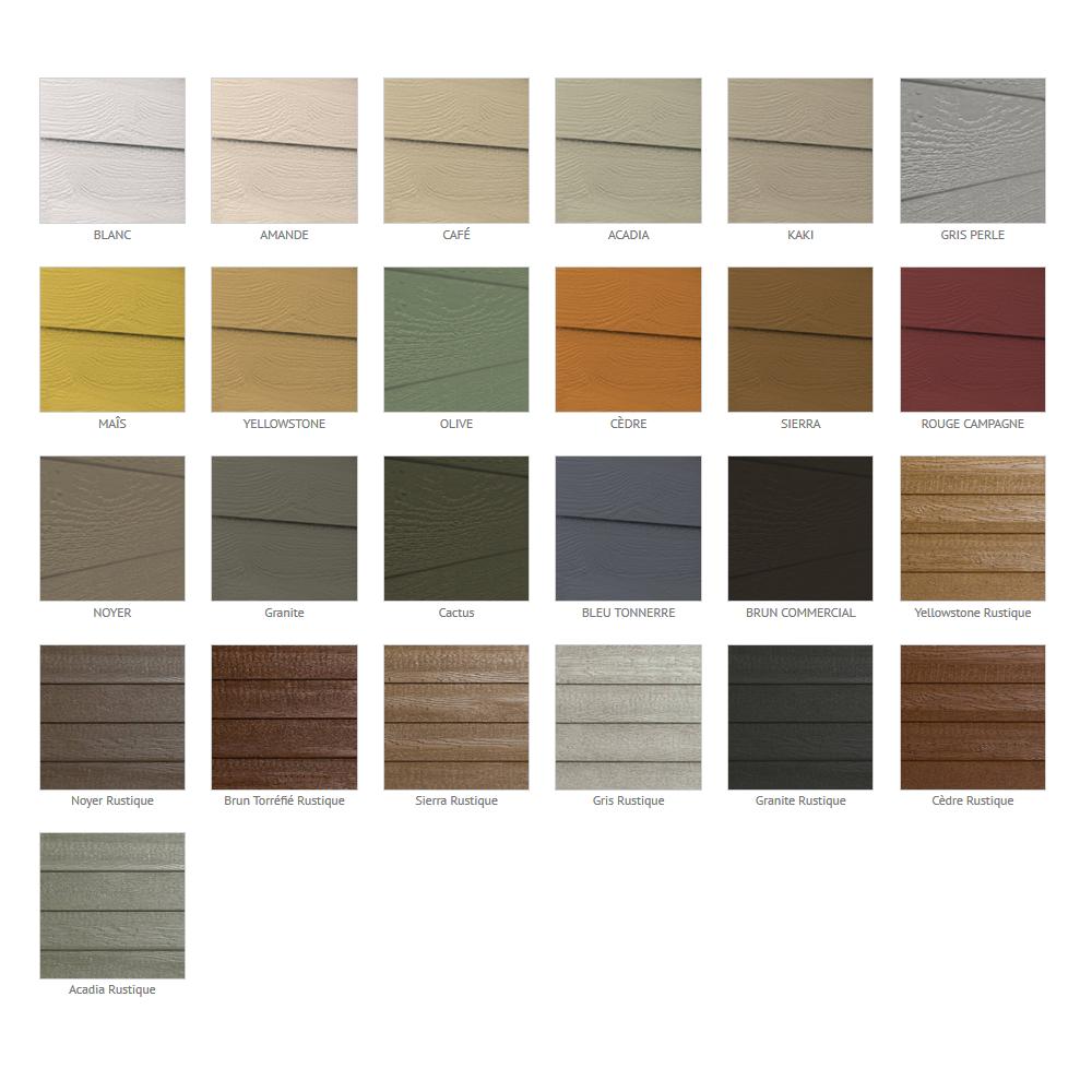 KWP Naturetech charte de couleurs