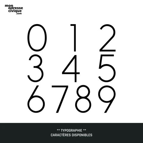 Mon adresse civique La Prestige typographie design exterieur