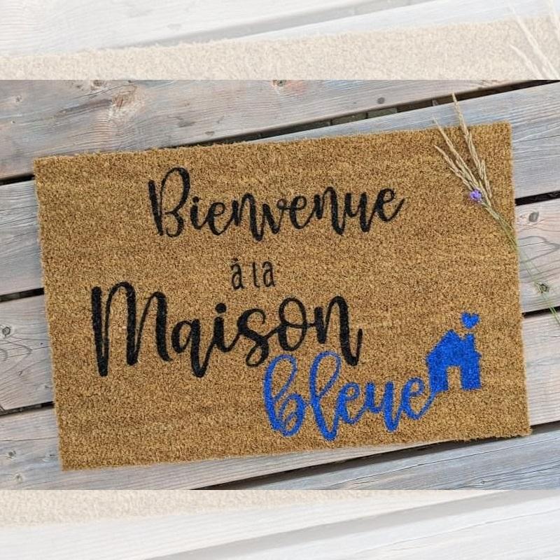Paillasson Bienvenue a la maison - Couleur design exterieur tapis d'entrée