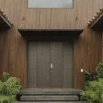 Bois ajoure en composite entree Design exterieur Newtechwood
