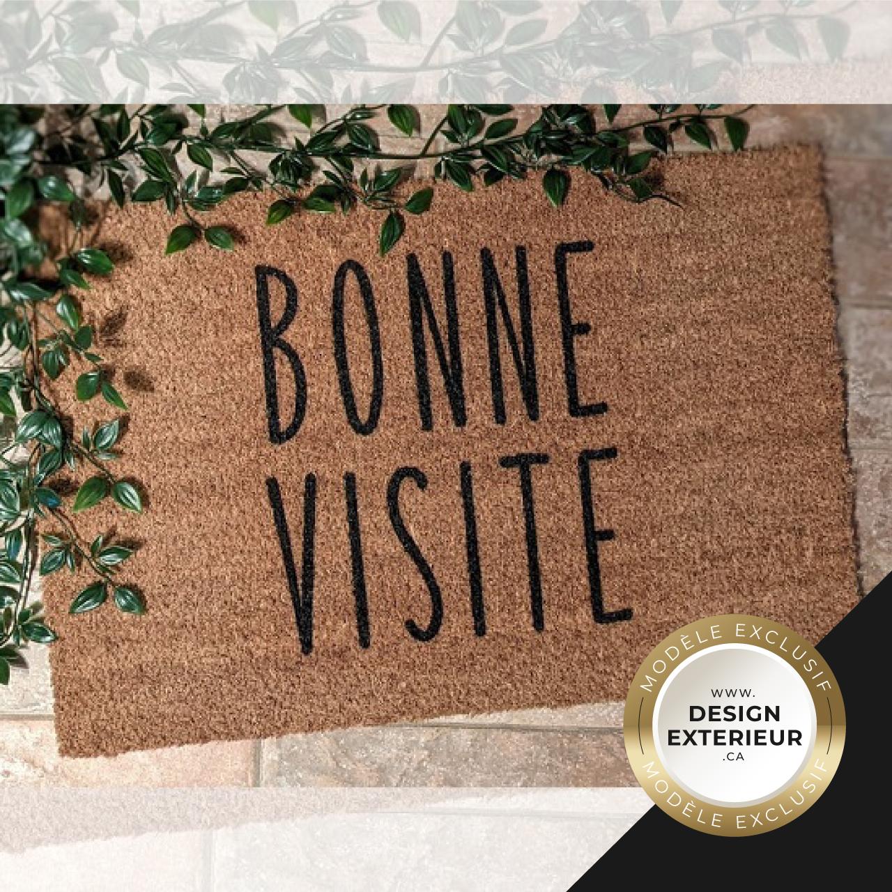 Paillasson Bonne visite design exterieur badge Exclusif