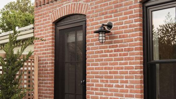 Brique en soldat brique rouge Design extérieur briques verticales