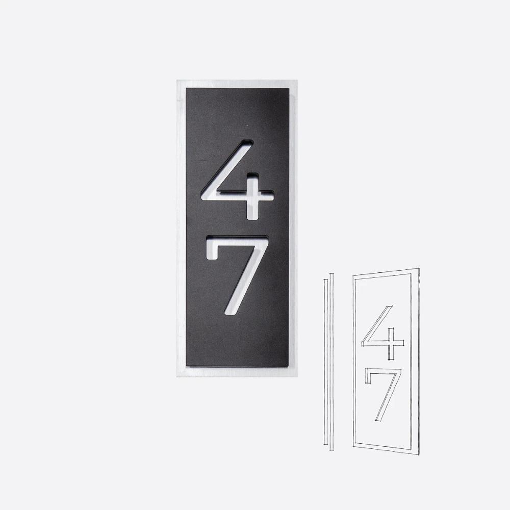 Styll Design adresse civique moderne modele PA9 accueil Design Exterieur