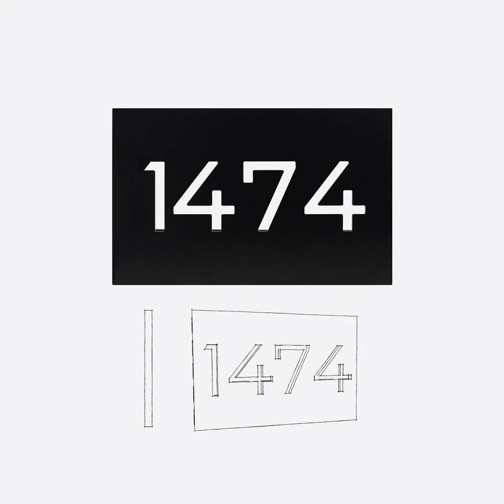 Styll Design numero civique contemporain modele PA3 accueil Design Exterieur