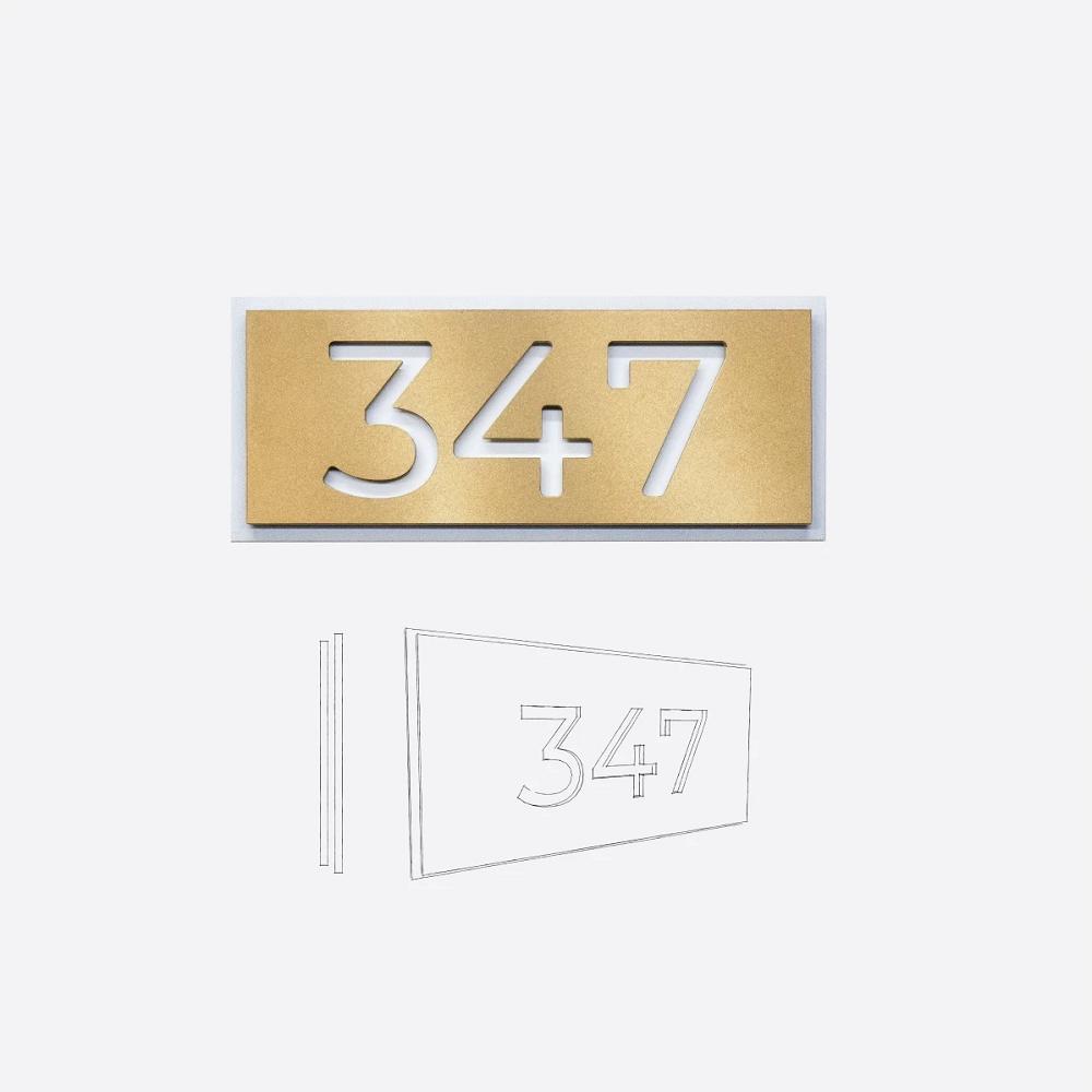 Styll Design numero civique modele PA10 accueil Design Exterieur