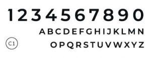 Styll Design numeros civiques Design exterieur typographie C1