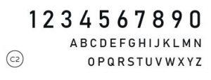 Styll Design numeros civiques Design exterieur typographie C2