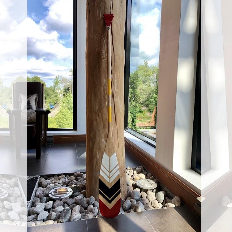 Onquata La Traditionnelle decoration autochtone pagaie decorative Design Exterieur