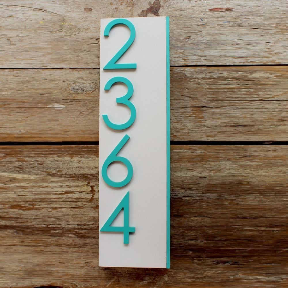 Jusho Design Adresse Civique Eliott turquoise 2 Design Exterieur numero civique pour maison