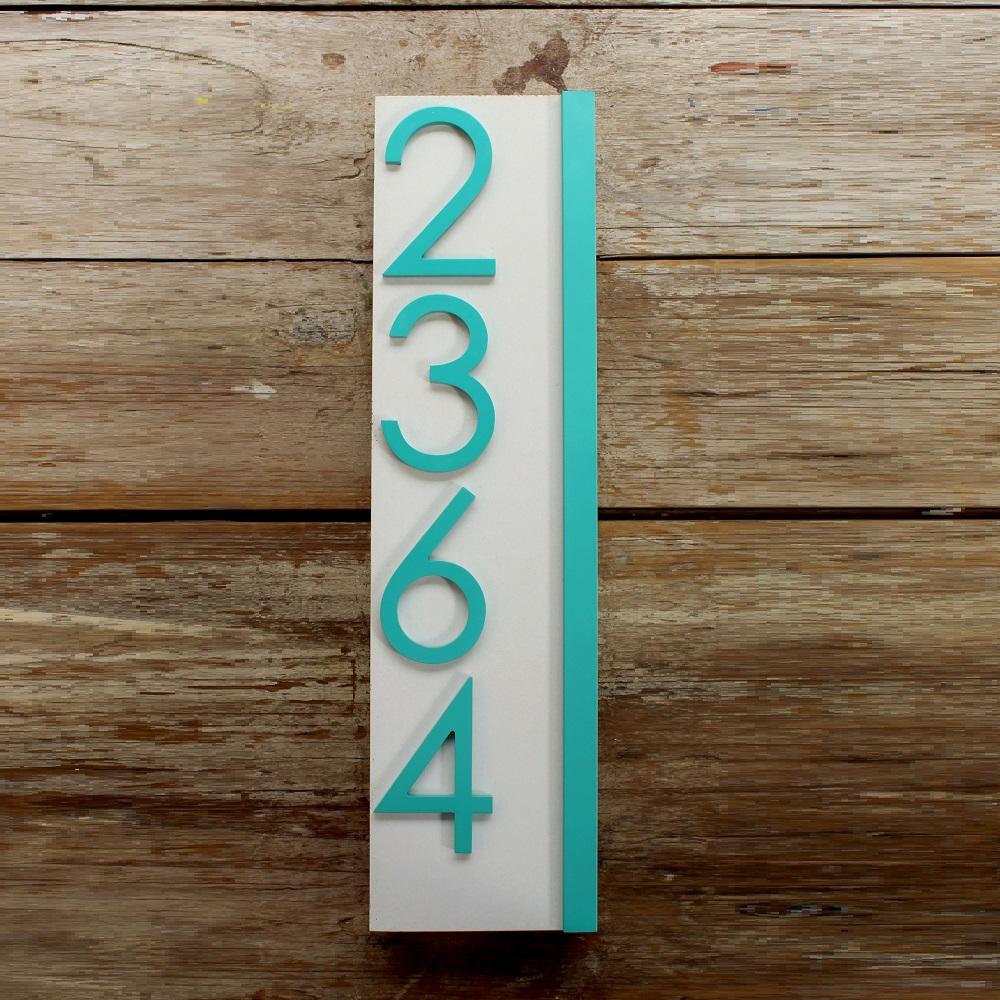 Jusho Design Adresse Civique Eliott turquoise Design Exterieur numero civique beton